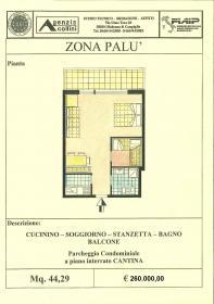<b>Piantina appartamento in vendita a Madonna di Campiglio</b>