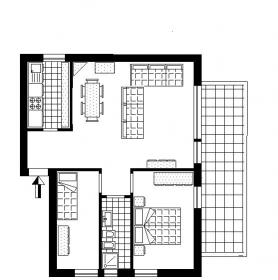 <b>MIRRO apartment </b> Layout apartment 2 bedrooms to rent