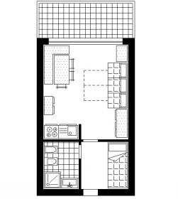 <b>layout studio apartment 4 beds in Silvana House</b> layout studio apartment 4 beds in Silvana House