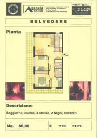 <b>appartamento in vendita a madonna di campiglio</b> piantina appartamento centrale in vendita a Madonna di Campiglio